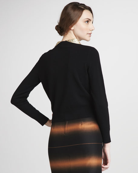 Mika Sequin-Collar Sweater