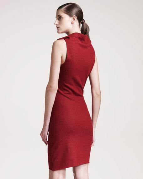 Folded Wool Dress
