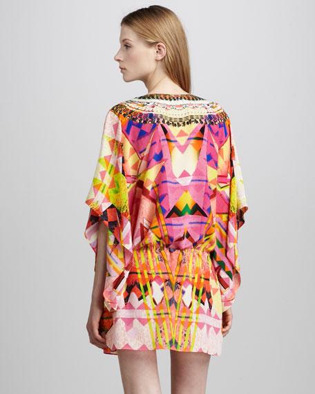 Embellished Drawstring Dress, Maze