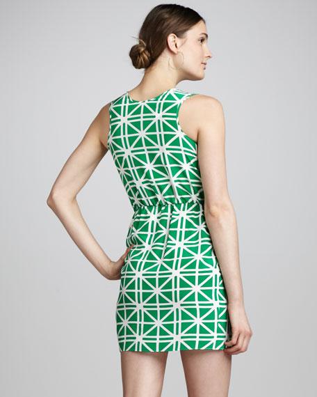 Printed Faux-Wrap Dress