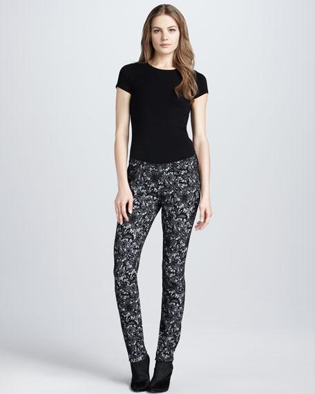 Skinny Lace Jacquard Jeans