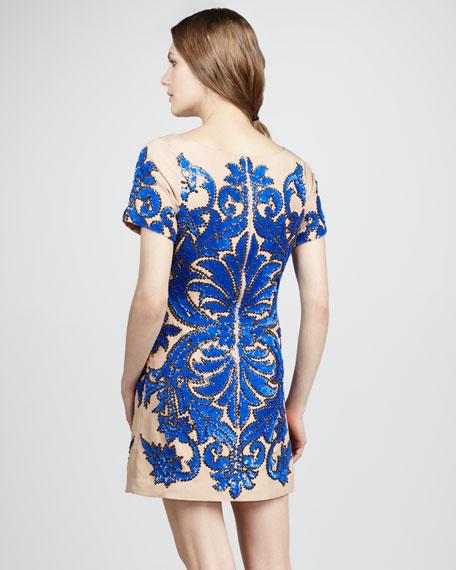 Beaded Silk Cocktail Dress