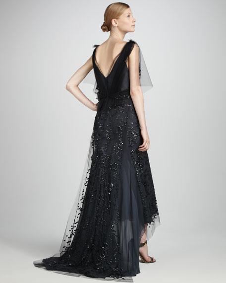 Silk Paillette Gown