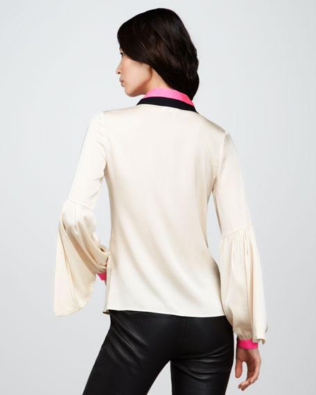 Eline Lantern-Sleeve Blouse