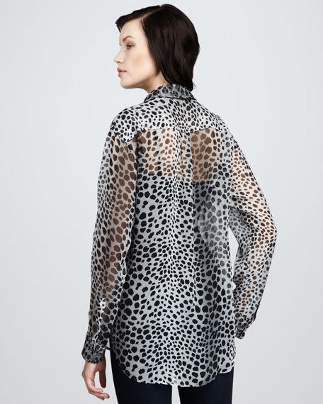 Signature Animal-Print Blouse