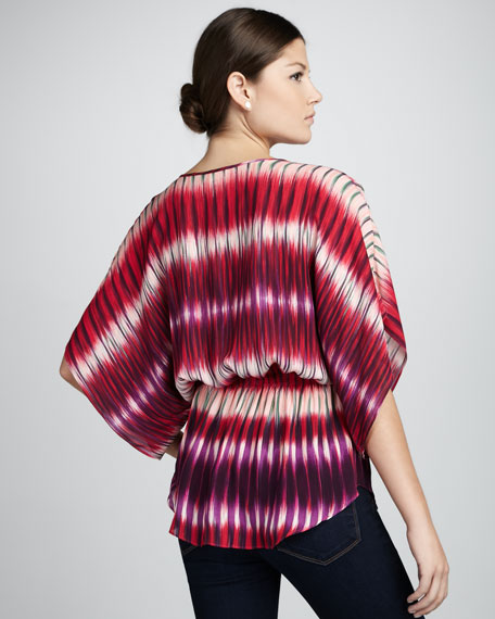Mirage Printed Silk Top