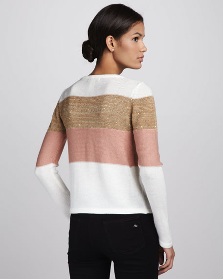 Shimmery Colorblock Sweater