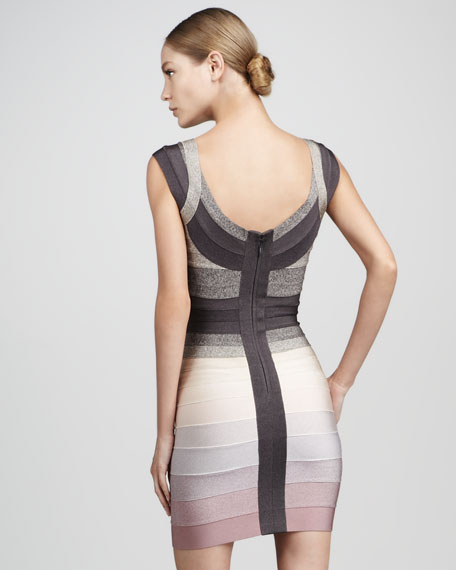 Cap-Sleeve Bandage Dress