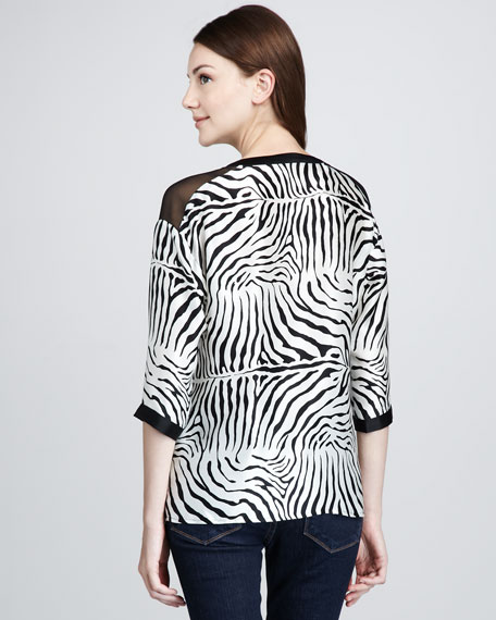 Zebra-Print Blouse
