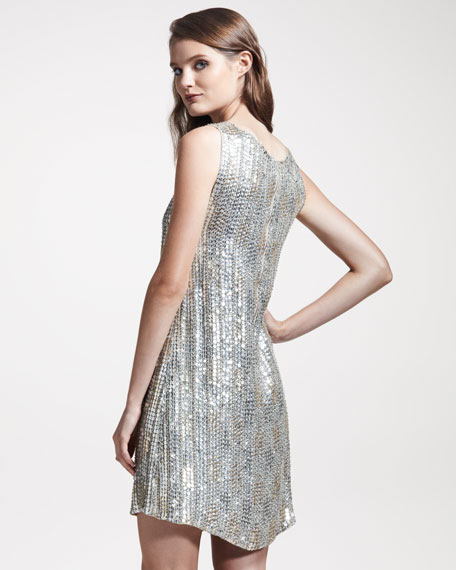 Sleeveless Sequined Dress