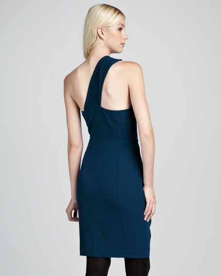 Ashlee Crepe Dress, Teal