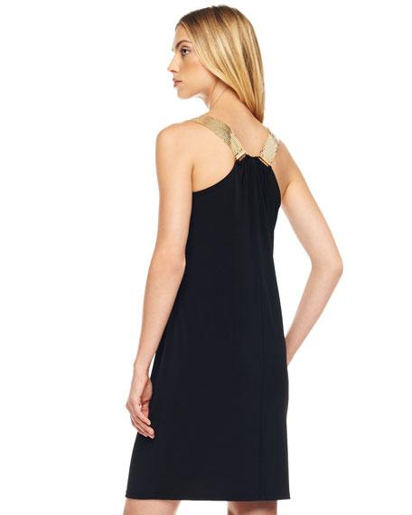 Mesh-Strap Jersey Dress