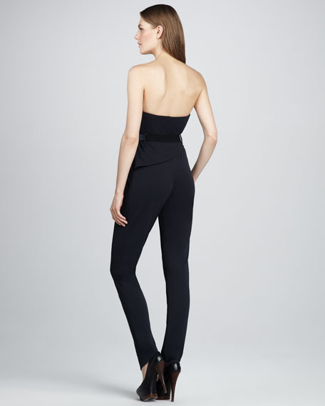 Strapless Draped Jumpsuit