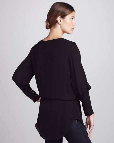 Lace-Trim Flowy Tunic