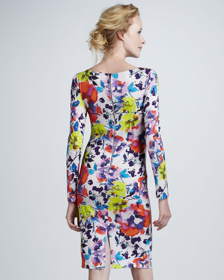 Tabitha Floral-Print Long-Sleeve Dress