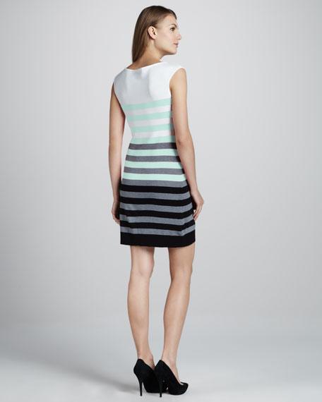 Multi-Stripe Knit Dress