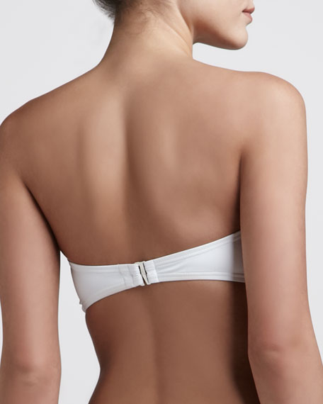 Cayman Bandeau Bikini Top, White