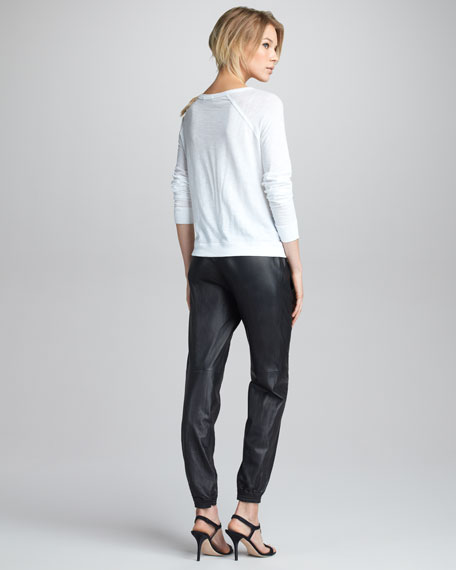 Leather Jogging Pants