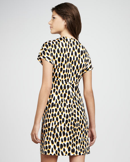 Natalie Animal-Dot Print Dress