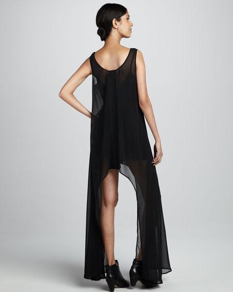 Arch-Skirt Sheer Dress