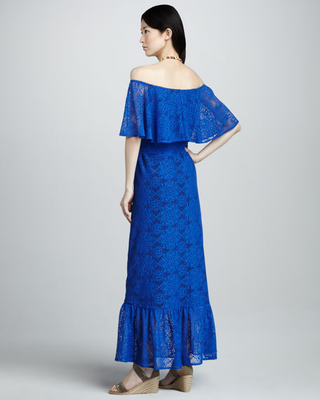 Lace Off-The-Shoulder Maxi Dress