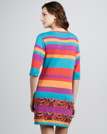 Wah Wah Striped V-Neck Dress