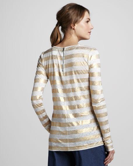 Dali Shimmer-Stripe Top