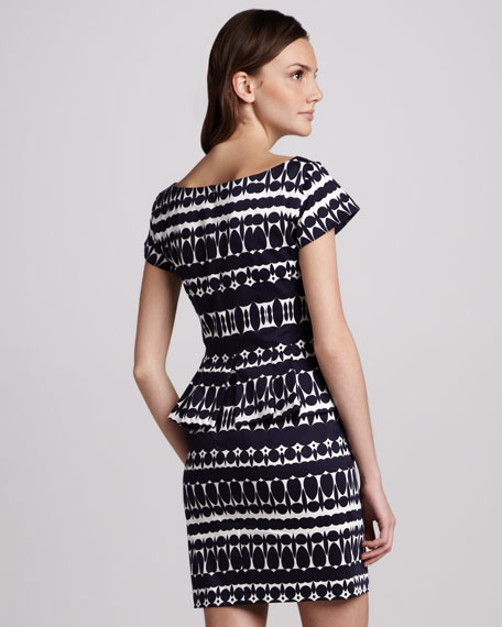 Printed Peplum Dress