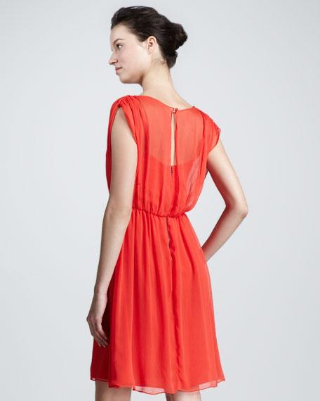 Clara Pleated Dress