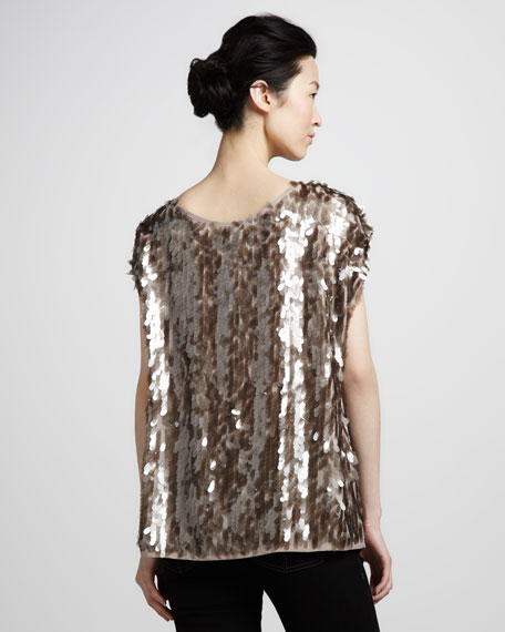 Marcy Oversize Sequin Top
