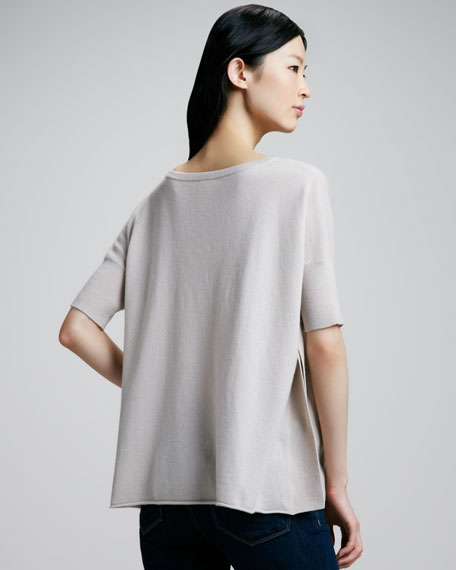 Oversized Draped Cashmere Top