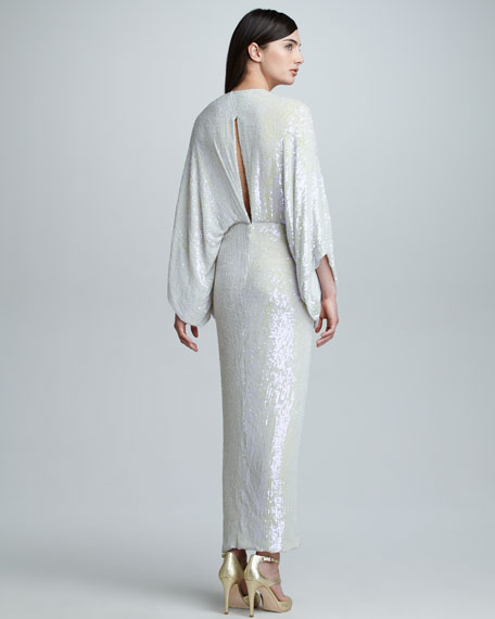 Diane von Furstenberg Jessi Allover Sequined Maxi Dress