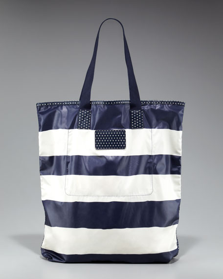 Striped Packable Shopper