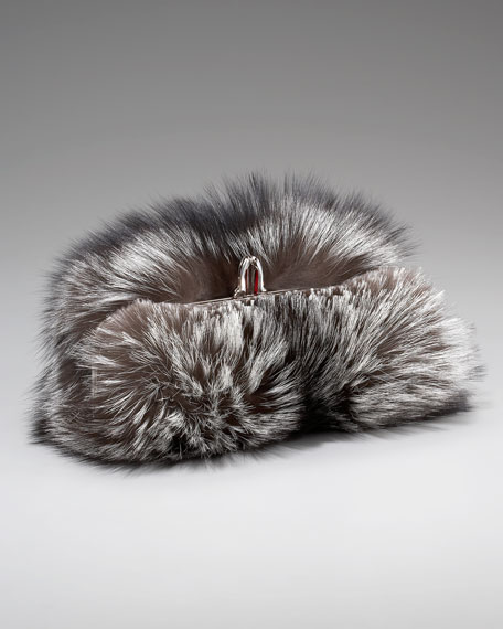 Anastasia Fox Fur Clutch