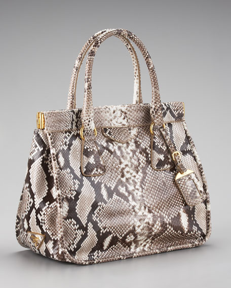 prada python handle bag