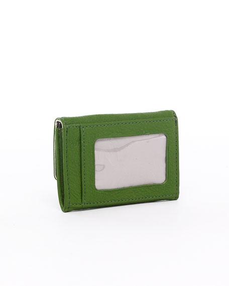 Jet Set Flap Coin Holder, Green or Sun