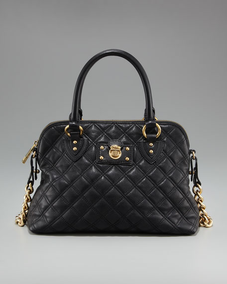 Quilted Carmine Satchel