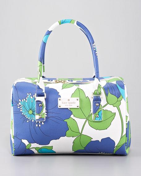 melinda floral-print vinyl satchel