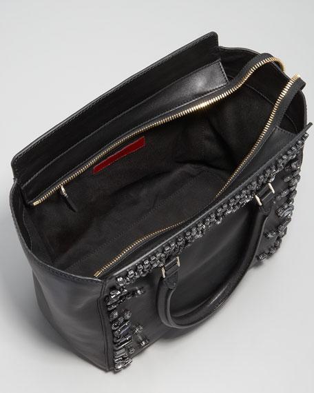 Crystal-Trimmed Tote Bag
