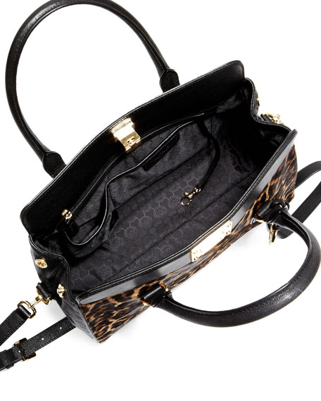 Astrid Large Calf-Hair Satchel Bag