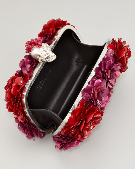 Metal Flower Box Clutch