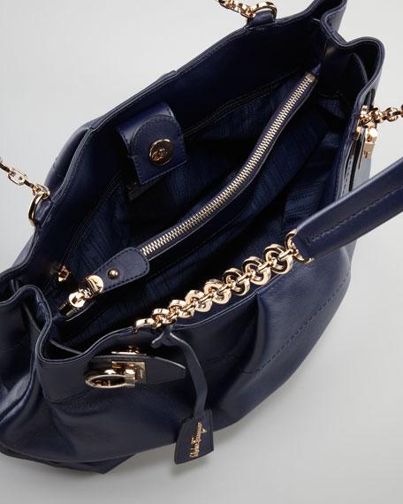 W Chain Tote Bag, Blue