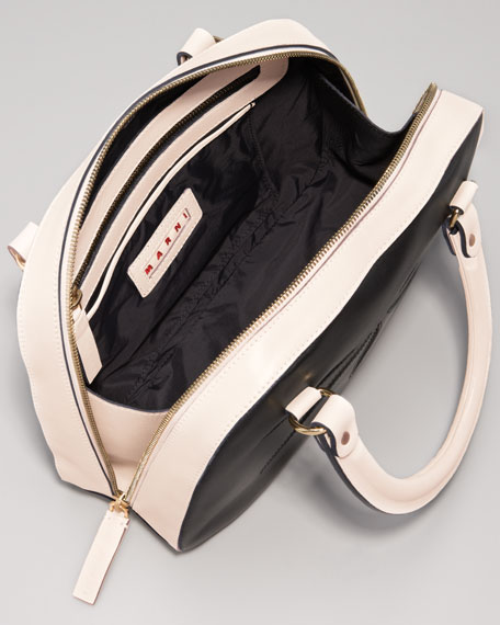 Double-Handle Cutout Satchel Bag