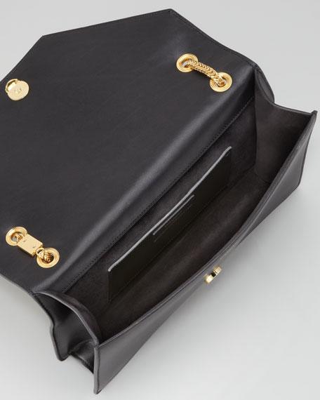 Betty Studded Chain Shoulder Bag, Black