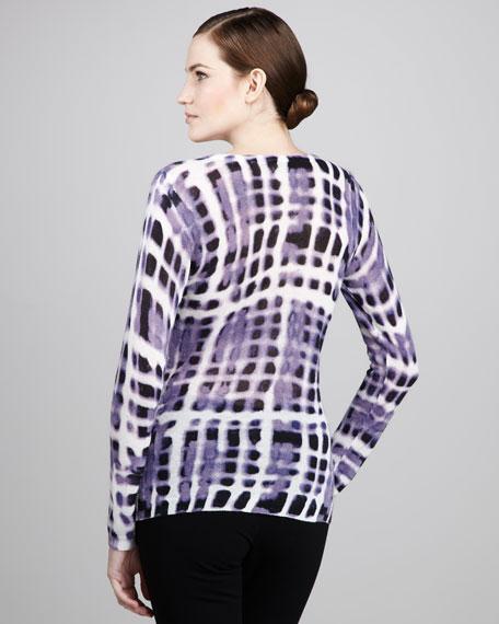 Tie Dye-Print Scoop-Neck Top