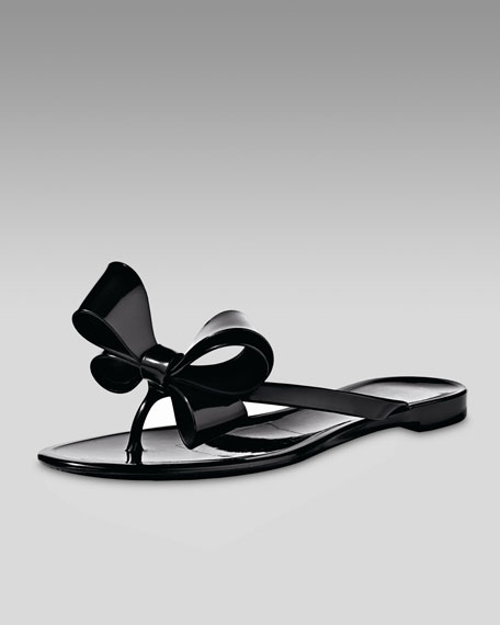 Bow Jelly Thong Sandal
