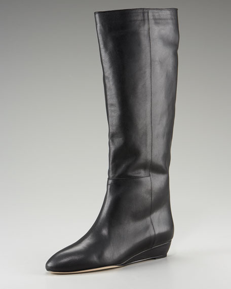 Demi-Wedge Knee Boot