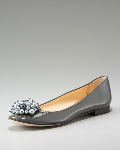 abbie patent pearl bauble flat
