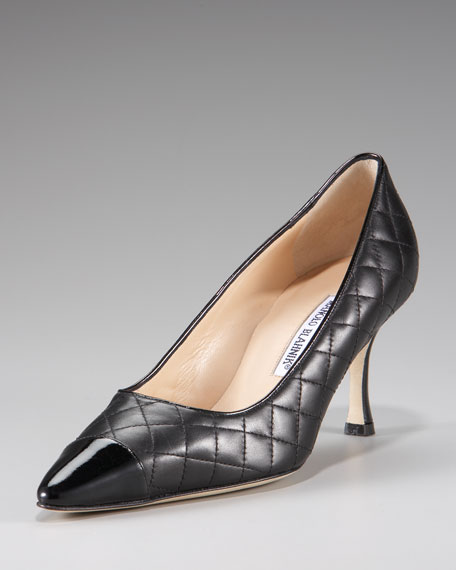 Irie Patent-Toe Quilted Pump