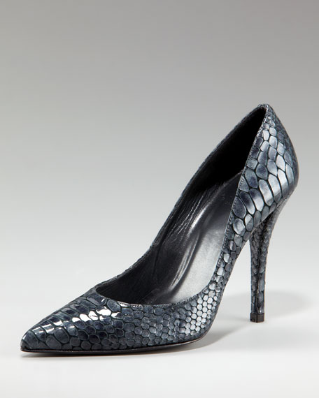 Crystal Snake Point-Toe Pump